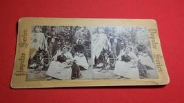 1880 Popular Series Stereoview RARE Gipsy Camp Gypsy - $79.00
