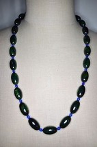 Vintage Green Yellow End Of Days Bakelite Tested Bead Beaded Necklace - $396.00