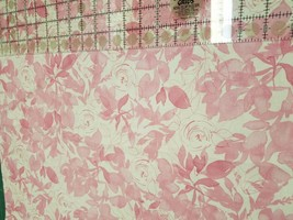 Fabric-Pink on White Floral-Kathy Davis-Fabric Traditions - $6.80