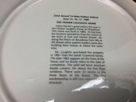 """Tri State Pottery Festival 1989 Homer Laughlin Home 10 1/4"""" Plate by Hans Hacker image 5"""