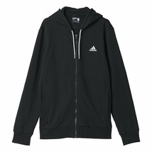 Adidas Linear Full Zip Hoodie Top Jacket - AP1231 - Black / White - $64.74