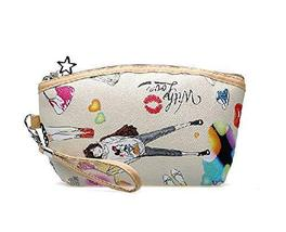 Korean Style Fashion Cosmetic Bag Beige Makeup Clutch image 1