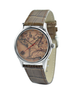 Map Watch (Middle Earth) in Silver - $36.00