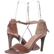 Cole Haan Clara Grand Ankle-Strap Dress Sandals 666, Nude Velvet, 5 US - $42.23