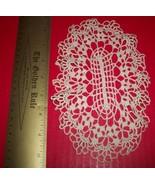 Home Treasure Linen Table Decor Ivory Cream Oval Doily Circular White Do... - $9.49