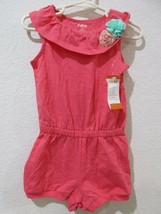 Gymboree Girls Ice Cream Parlor Romper Corsage Flowers Coral Rose Pink NWT 2T - $14.99