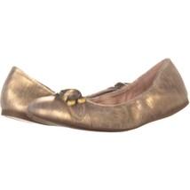 Coach Stanton Slip On Buckle Ballet Flats  787, Gold, 5 US - $52.98