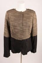 Banana Republic Heritage Womens Blazer Jacket Sz 10 Black Tan Colorblock... - $29.69