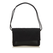 Pre-Loved Gucci Black Canvas Fabric Shoulder Bag Italy - $293.59