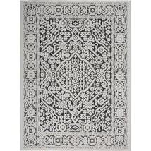 Calobra Dark Grey 8 ft. x 10 ft. Geometric Contemporary Indoor/Outdoor A... - $186.76