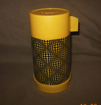 1969 Psychedelic Thermos Dome  Lunch Box Thermos only complete - $34.95