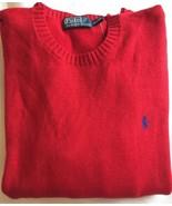 Ralph Lauren Herren Rot Pullover Größe XL EXTRA GROß Rundhals - $93.48