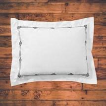Pottery Barn Emilia Embroidered Standard Pillow Sham Midnight NEW - $26.68