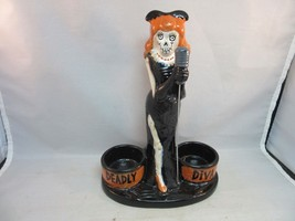 2015 Deadly Diva Yankee Candle Halloween ceramic tea light holder. Boney... - €12,14 EUR