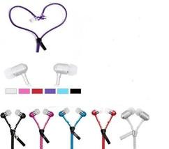 3.5mm In-Ear Zip Zipper Hands Headset +Mic Earphone Earbud Assorted Colo... - $5.45