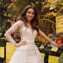 Elegant Mermaid Wedding Dresses With Beading Crystal Detachable Lace Tulle Train image 3
