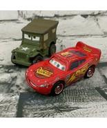 Disney Pixar Cars Diecast Lightning Mcqueen & Sarge - $11.88