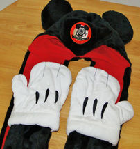 Disney Parks Mickey Mouse Snood Hat Cap & Gloves Attached image 3