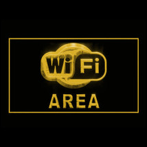 130052B Wi-Fi Area Customers Signal Notification Wireless Network LED Light Sign - $18.00
