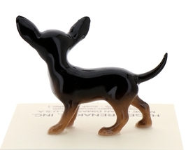 Hagen-Renaker Miniature Ceramic Dog Figurine Chihuahua Tiny Mama Black image 3