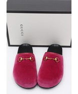 NIB Gucci New River Horsebit Pink Velvet Mules Slides Clogs Flats 6.5 3... - $325.00