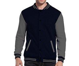 Maximos USA Men's Premium Vintage Baseball Letterman Varsity Jacket (Medium, Nav