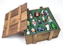 Vtg MUSEUM THOMAS SERIES Retro Blown Glass Christmas Tree Ornaments 30 P... - $39.59