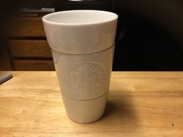 White Starbucks Cup Embossed Mermaid Logo Shots Syrup Milk - $24.02