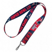 New England Patriots Super Bowl LIII Two-Tone Lanyard Key chain 26'' by ... - $12.98