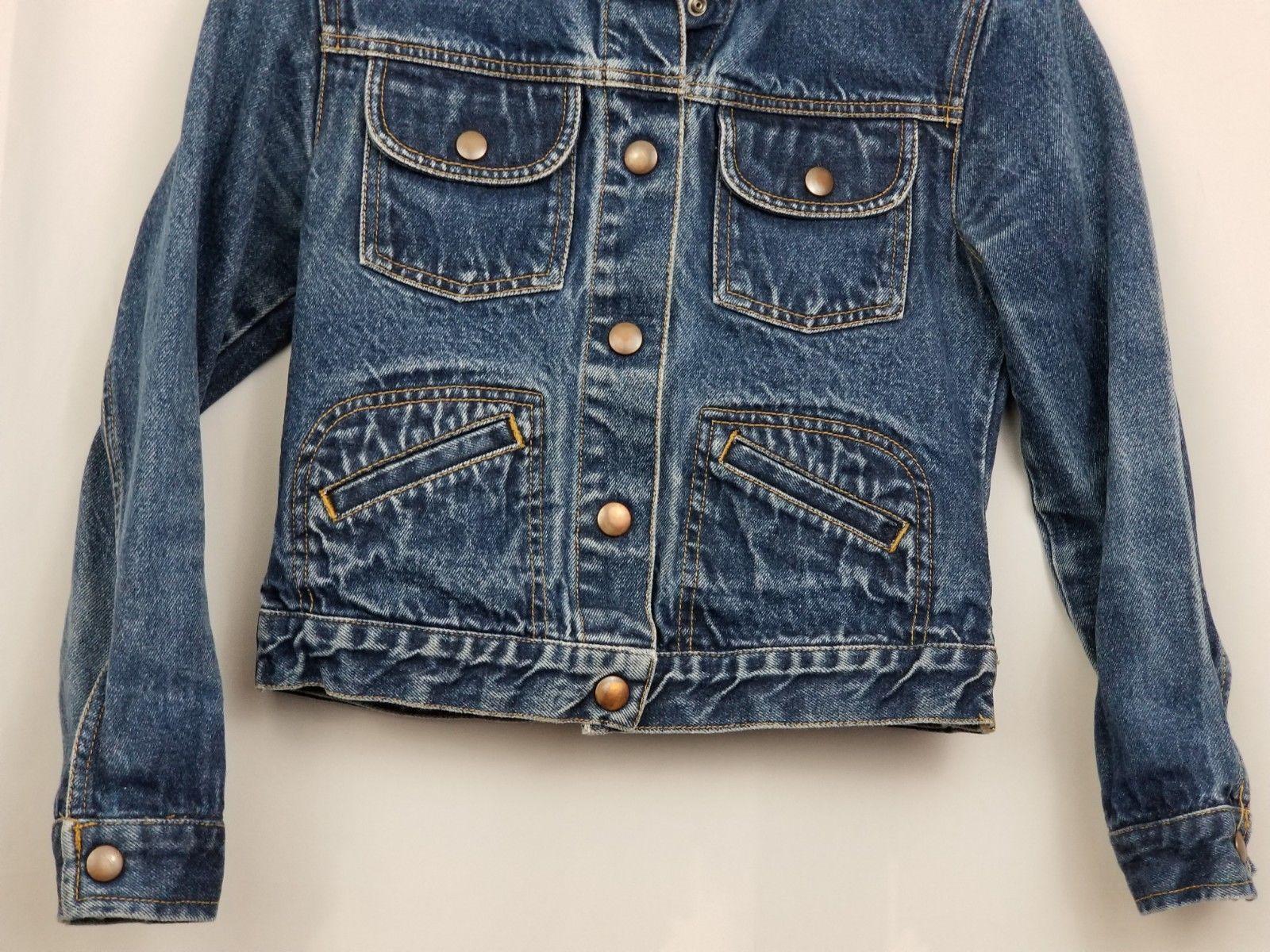 GAP Kids Denim Jean Jacket Coat Long Sleeve Blue Pockets Large Factory Store image 4