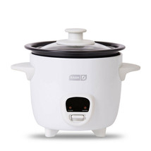 Dash DRCM200GBWH04 Mini Rice Cooker Steamer With Removable Nonstick Pot ... - £23.66 GBP