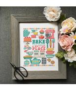 Baking kitchen cross stitch chart Tiny Modernist  - $9.00