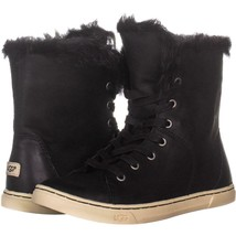 UGG Australia Croft Sheepskin Lace Up Fashion Sneakers 238, Black, 6 US ... - $46.07