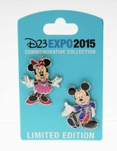 Disney D23 EXPO 2015 Mickey & Minnie Diamond Celebration Costume Pin Set - $24.75
