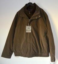 Weatherproof Men's Microfiber Bomber Jacket with Attached Bib in Chocola... - $94.05