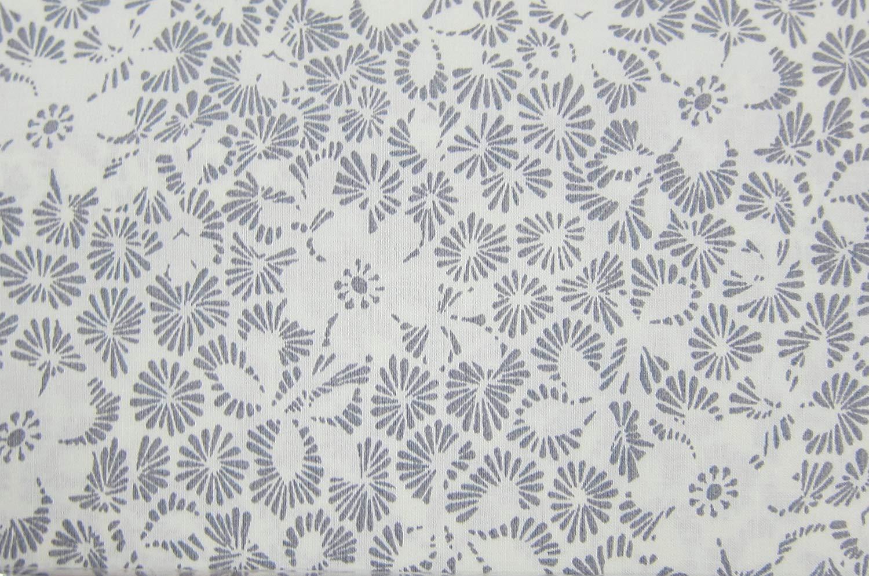 Ralph Lauren Gray and Cream Floral Cotton Sheet Set Queen