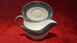 Ralph Lauren Annalia Gravy Boat with Underplate Teal Pink floral FREE SH... - $89.09