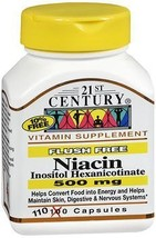 21st Century Niacin 500 mg Tablets Flush Free - 110 Tablets, Pack of 3 - $29.00