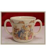Vintage Royal Doulton Bunnykins Christening  2 Handle Hug-A- Mug - $15.00