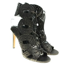 DOLCE VITA Hayie Womens Gunmetal Leather Gladiator Lace-ups Ankle Strap ... - $79.19