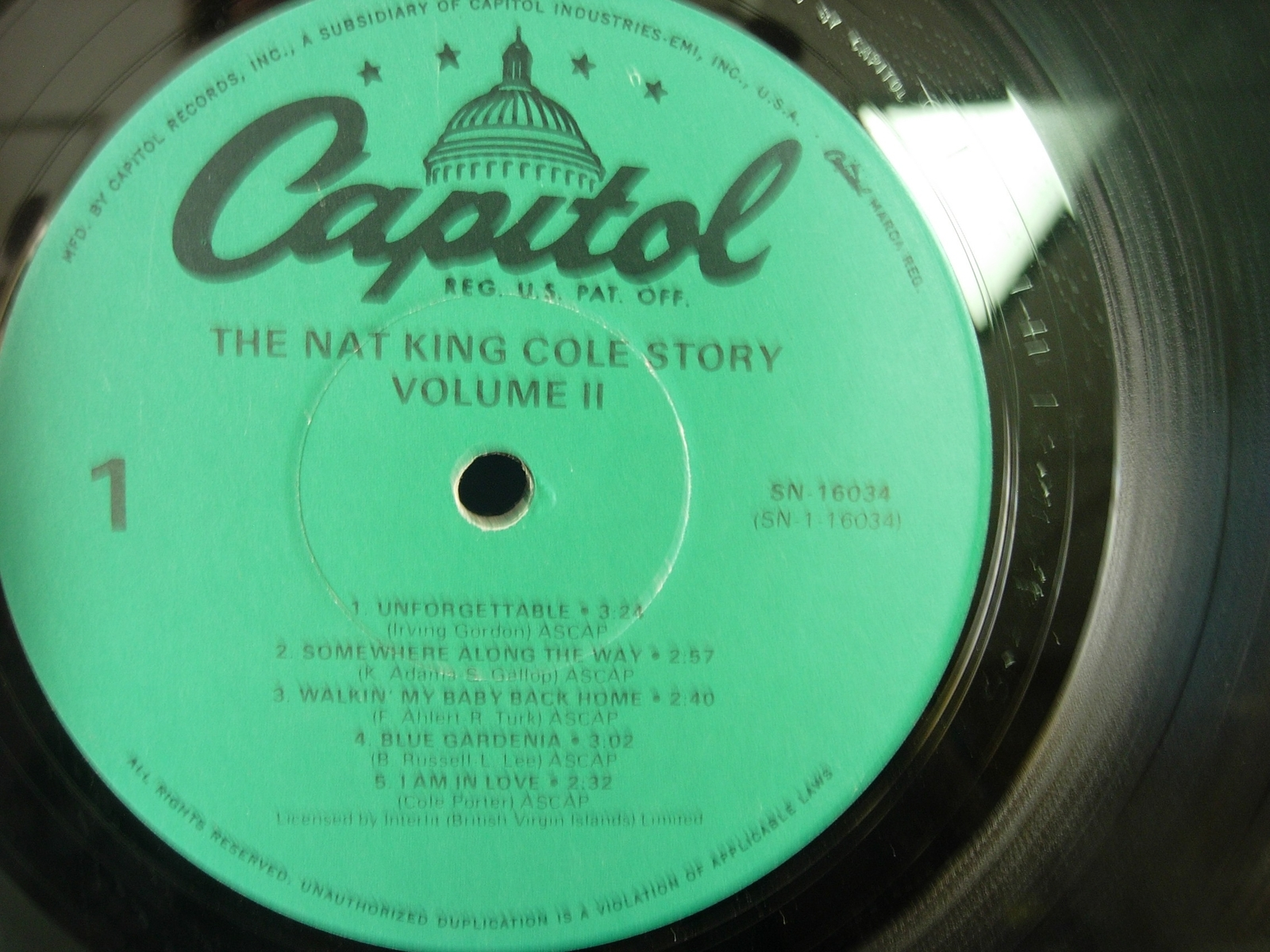 The NAT KING COLE STORY Vol. 2 - Capitol SN 16034