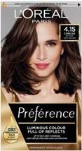 L'OREAL Preference 4.15 Caracas Intense Deep Brown Permanent Hair Dye - $20.80