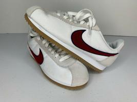 NEW SIZE 6.5 Nike Classic Cortez Premium Women Shoe Sneaker White Red 90... - $33.65