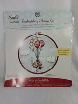"New Needle Creations ""T"" Is For Turtle Embroidery Hoop Kit stampedBalloons Cloud - $11.99"