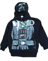 Darth Vader Star Wars Novelty Hoodie Hooded Sweatshirt With Mask Youth S... - $21.99