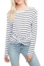 Generation love - Women's Ellery Twisy Long Sleeve Top - Stripe - $137.60