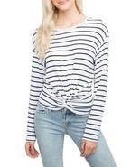 Generation love - Women's Ellery Twisy Long Sleeve Top - Stripe - ₨9,335.96 INR