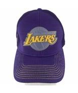 Los Angeles Lakers NBL Basketball NewEra Hat Baseball Cap Purple Gold Si... - $23.20