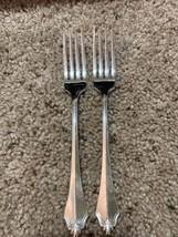 2 Community CUBE Oneida  BELCOURT  Silverplate  Dinner Forks 1989 EUC 6 ... - $18.32