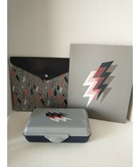 Staples Lighting Bolt Pencil Case Box Pocket Folder Poly Binder School S... - $14.95